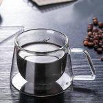 Yunhigh Verres à Double paroi à cuillère avec cuillère, Tasse à café en Verre à Double paroi Forte isolée Tasse à thé Claire Verre à Borosilicate Thermique, 200ml / 7oz, Lot de 2 de la marque Yunhigh image 2 produit