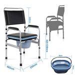 ZDY Portable Kit Toilette Pliable, siège de Toilette médical portatif réglable en Hauteur, Tabouret de Chaise de Douche pour Adultes/Handicap/Personnes âgées/Camping. de la marque ZDY image 3 produit