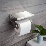 ZUNTO Porte Papier Toilette avec Etagère Support Papier Toilettes en Acier Inox Brossé Porte Rouleau WC pour Salle de Bain Mural de la marque ZUNTO image 1 produit