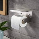 ZUNTO Porte Papier Toilette avec Etagère Support Papier Toilettes en Acier Inox Brossé Porte Rouleau WC pour Salle de Bain Mural de la marque ZUNTO image 2 produit