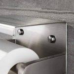 ZUNTO Porte Papier Toilette avec Etagère Support Papier Toilettes en Acier Inox Brossé Porte Rouleau WC pour Salle de Bain Mural de la marque ZUNTO image 3 produit