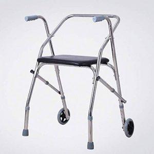 ZXQ-LR Cadres de Marche Cadre de Marche Pliant, Aide à la mobilité de Marche , Walker, avec siège et 2 Roues de la marque ZXQ-LR image 0 produit