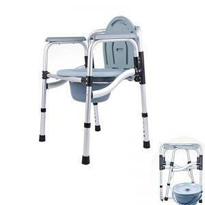 ZYFA Chaise Toilettes,Réglable en Hauteur percée Pliable Chaise WC,De Chevet Chair de Adulte,Tabouret de pour la Cuvette handicapées âgées Chaise de la marque ZYFA image 0 produit